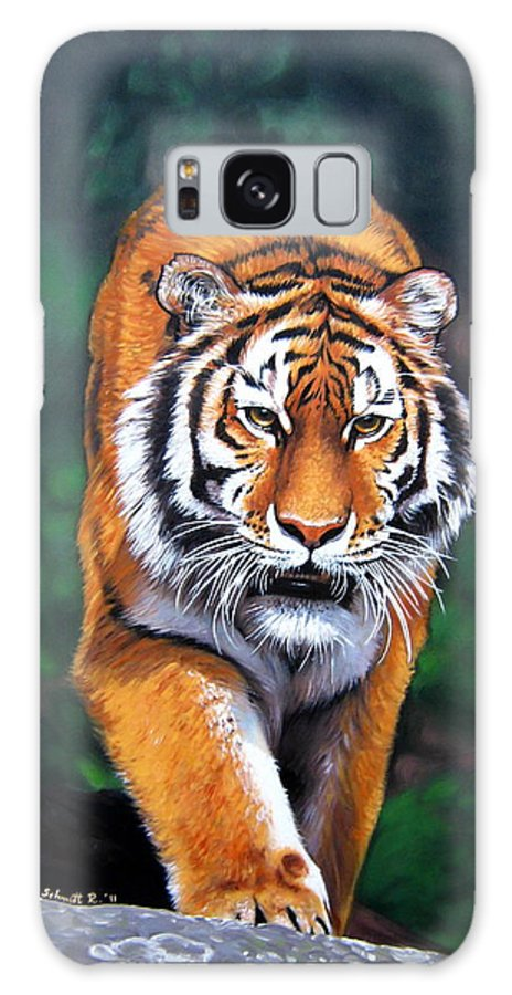 Animals Galaxy S8 Case featuring the painting Siberian Tiger by Schmidt Roger