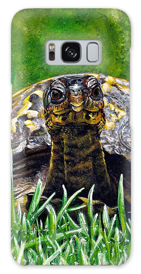 Turtle Galaxy S8 Case featuring the painting Smile by Cara Bevan