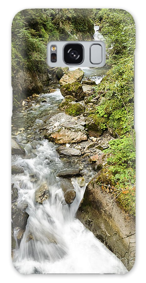Water Galaxy S8 Case featuring the photograph Stanghe's Waterfalls by Pier Giorgio Mariani
