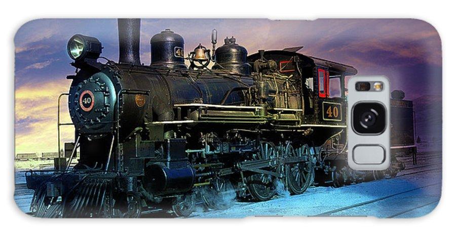 Steam Galaxy S8 Case featuring the photograph Steam Engine Nevada Northern by Gunter Nezhoda