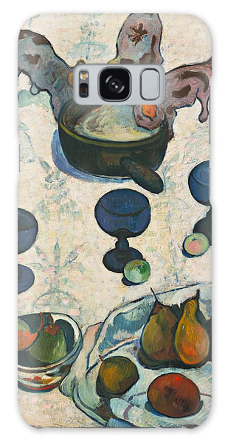 Paul Gauguin Galaxy S8 Case featuring the painting Still Life With Three Puppies by Paul Gauguin