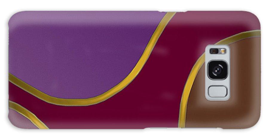 Geometric Abstract Galaxy S8 Case featuring the digital art Streamers 18 by Warren Furman