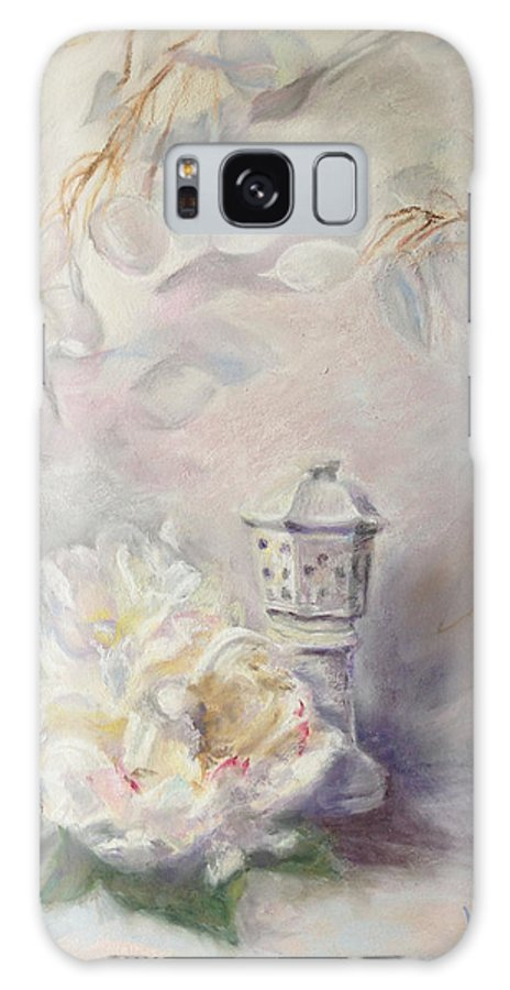 White Galaxy S8 Case featuring the painting Study In White by Vicki Ross
