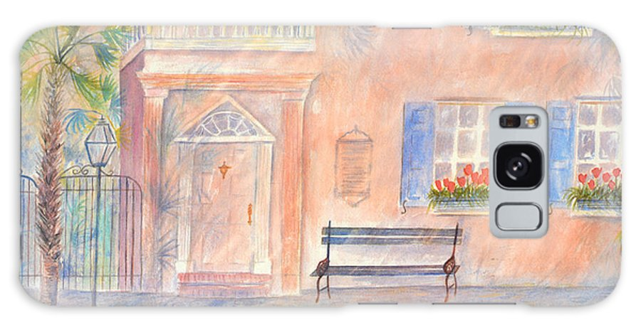 Charleston Galaxy Case featuring the painting Sunday Morning in Charleston by Ben Kiger