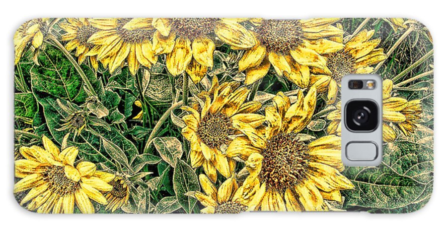 Sunflowers Galaxy S8 Case featuring the digital art Sunflower by Cathy Anderson