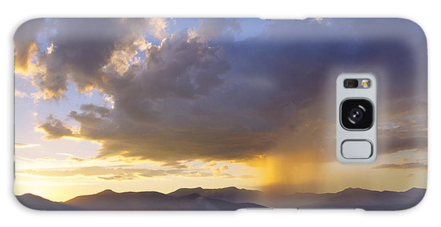 Mt. Mansfield Galaxy S8 Case featuring the photograph Sunset While Raining Over Mt. Mansfield Stowe Vermont by Don Landwehrle
