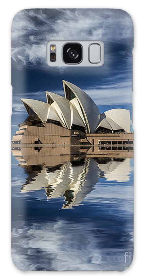 Sydney Opera House Galaxy Case featuring the photograph Sydney Opera House reflection by Sheila Smart Fine Art Photography