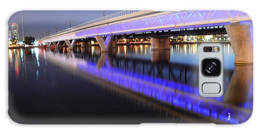 Bridge Galaxy S8 Case featuring the photograph Tempe Lake Bridge by Keith Lyman