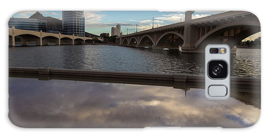 Tempe Galaxy S8 Case featuring the photograph Tempe Lake Reflections by Steve Wile