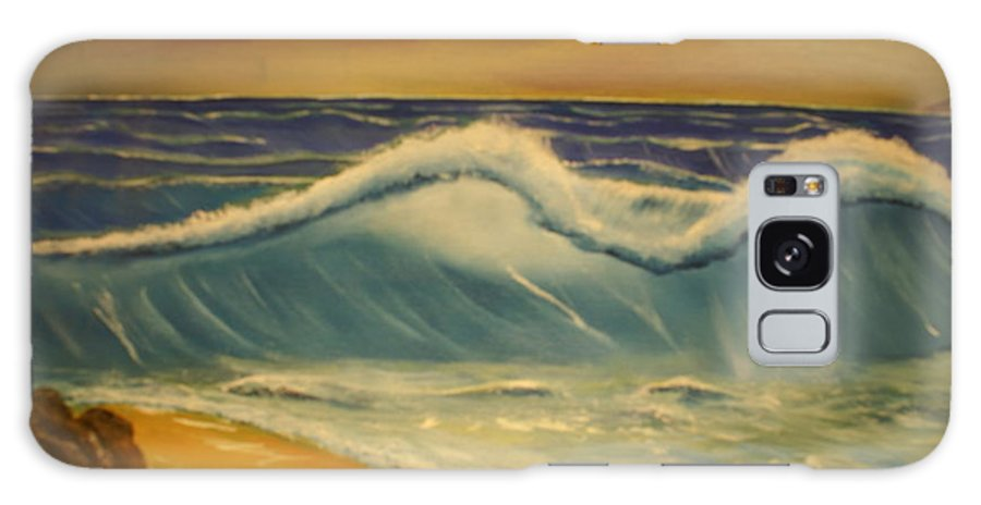 Beach Seashore Sand Galaxy S8 Case featuring the painting The Big Wave by Raymond Sellers