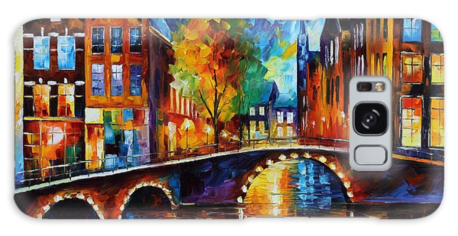 Afremov Galaxy Case featuring the painting The Bridges Of Amsterdam by Leonid Afremov