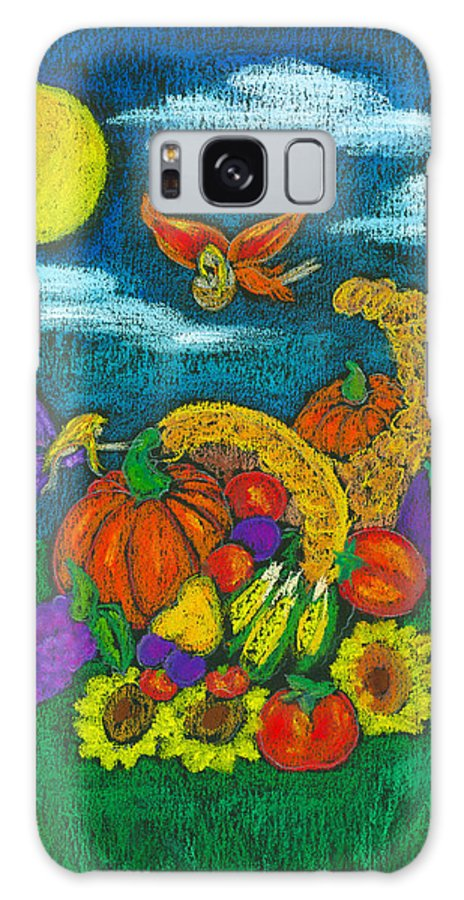 Faery Shaman Galaxy S8 Case featuring the pastel The Harvest by Diana Haronis