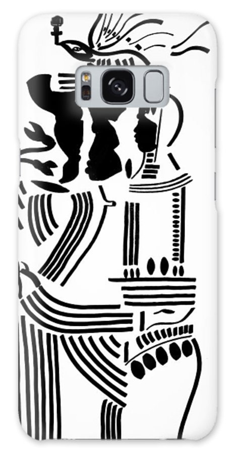 Jesus Galaxy S8 Case featuring the drawing The Holy Family by Gloria Ssali