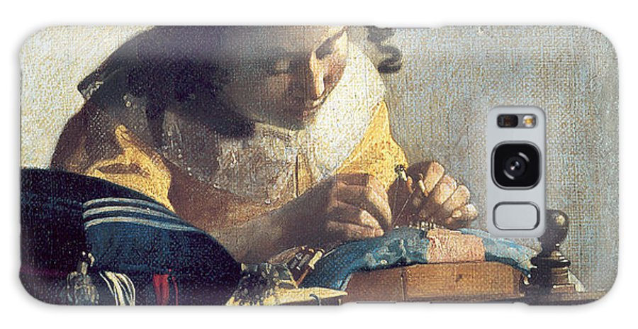 Johannes Vermeer Galaxy S8 Case featuring the painting The Lacemaker by Johannes Vermeer