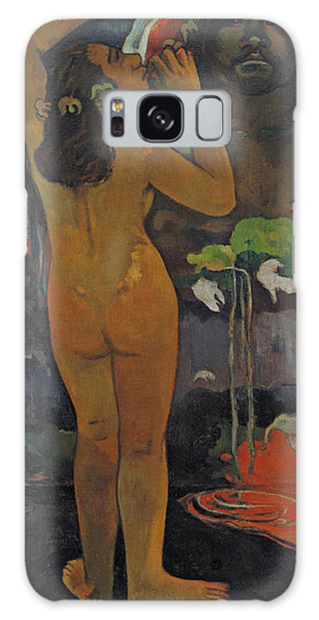 Paul Gauguin Galaxy S8 Case featuring the painting The Moon And The Earth by Paul Gauguin