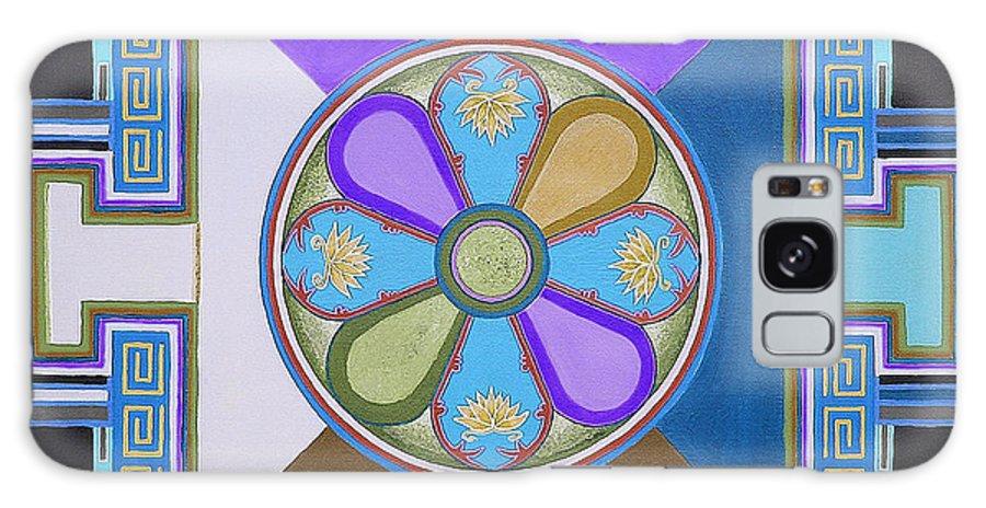 Flower Paintings Galaxy S8 Case featuring the painting Tibetan Mandala by Maya B