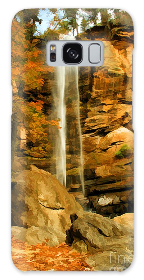 Autumn Galaxy S8 Case featuring the photograph Toccoa Falls by Darren Fisher