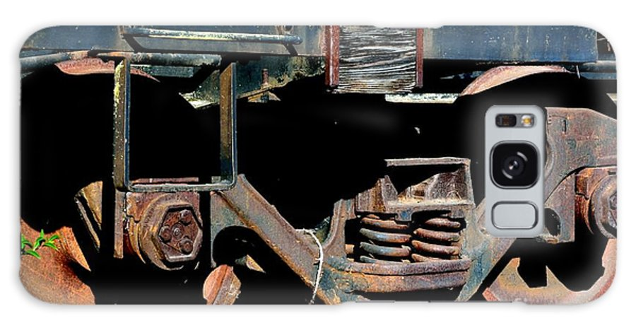 Train Galaxy S8 Case featuring the photograph Train Wheels by Beth Sanders