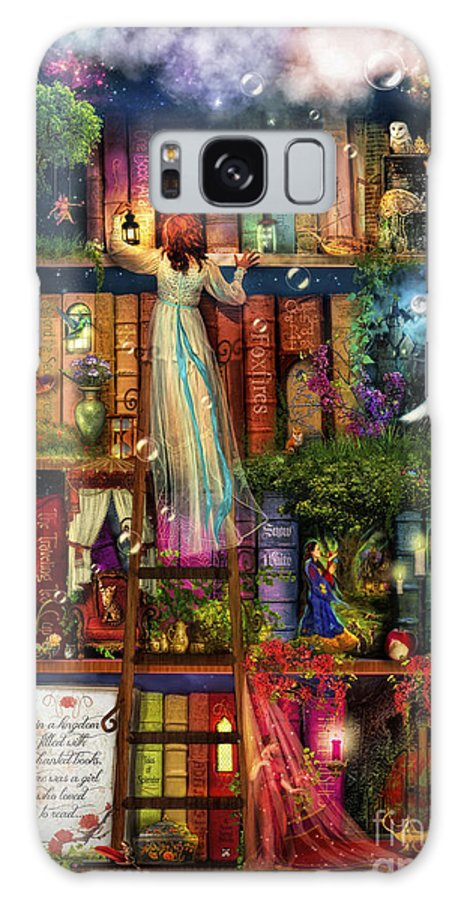 Aimee Stewart Galaxy S8 Case featuring the digital art Treasure Hunt Book Shelf by Aimee Stewart