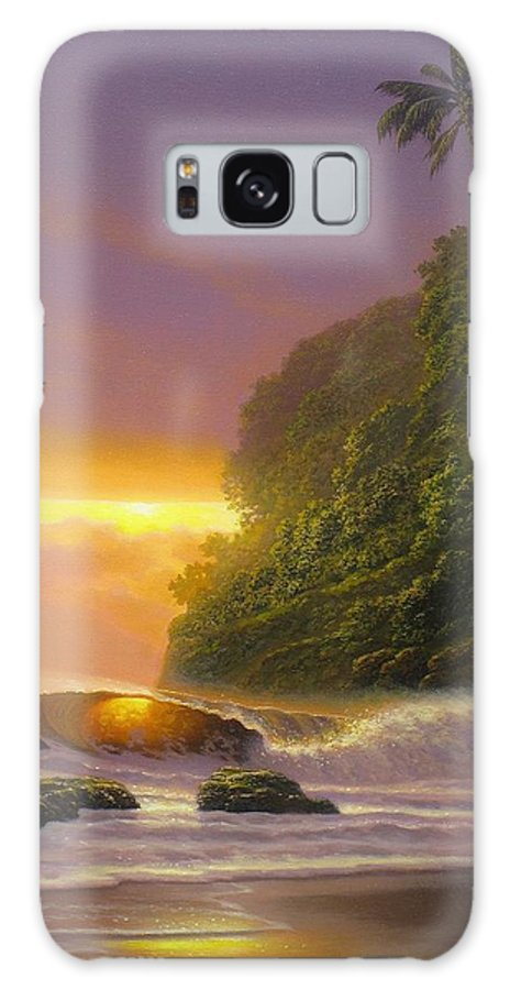 Seascape Paintings Galaxy S8 Case featuring the painting Tropical Radiance by Howard Chung