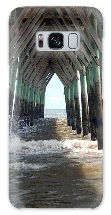 Pier Galaxy S8 Case featuring the photograph Under The Pier by Suzanne Gaff