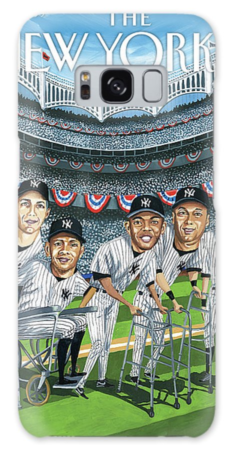 Yankees Galaxy S8 Case featuring the painting New Yorker April 8th, 2013 by Mark Ulriksen