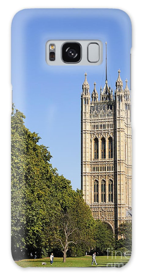 London Galaxy S8 Case featuring the photograph Victoria Tower And The Palace Of Westminster In London England by Robert Preston