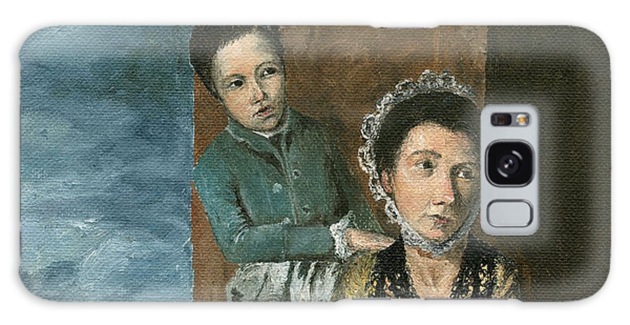 Figure Galaxy S8 Case featuring the painting Vintage Mother And Son by Mary Ellen Anderson