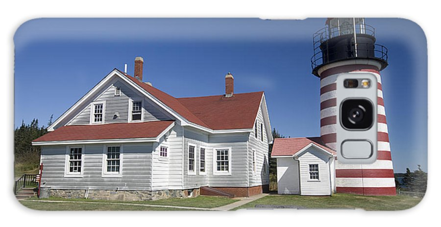 Horizontal Galaxy S8 Case featuring the photograph West Quoddy Lighthouse by Jim Wallace