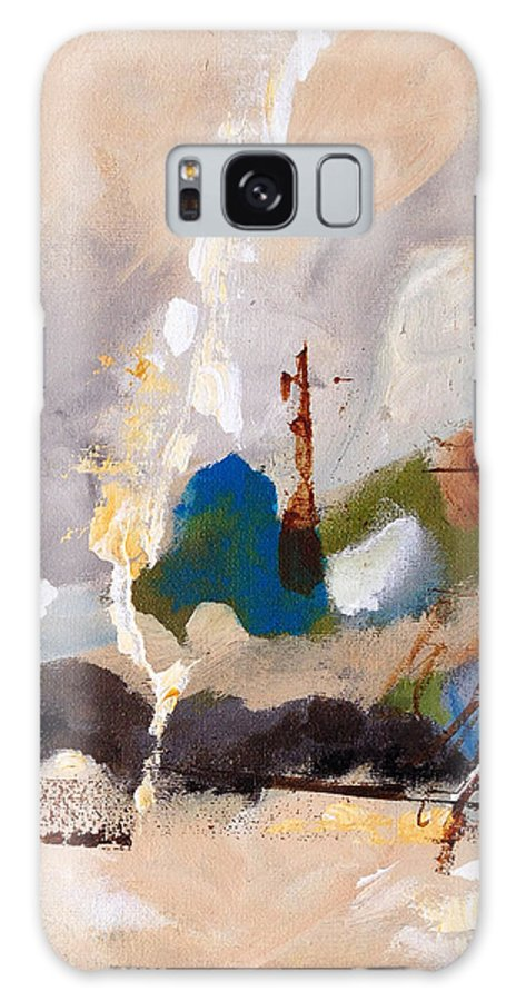 Abstract Galaxy S8 Case featuring the painting Wharf by Ruth Palmer