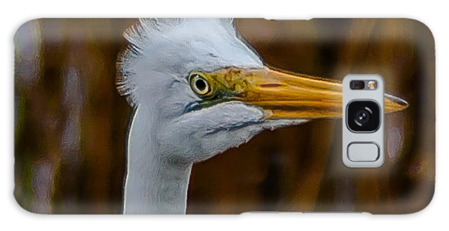 Great Egret Galaxy S8 Case featuring the photograph What's Up by Charles Moore