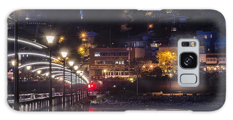 Night Shots Galaxy S8 Case featuring the photograph White Rock Pier by Irene Theriau