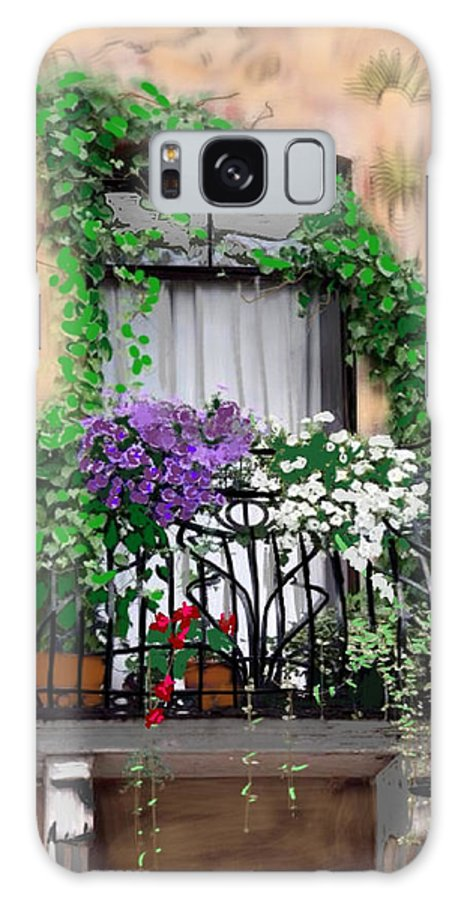 Window Flower Box Galaxy S8 Case featuring the painting Window Flower Box by Craig Nelson