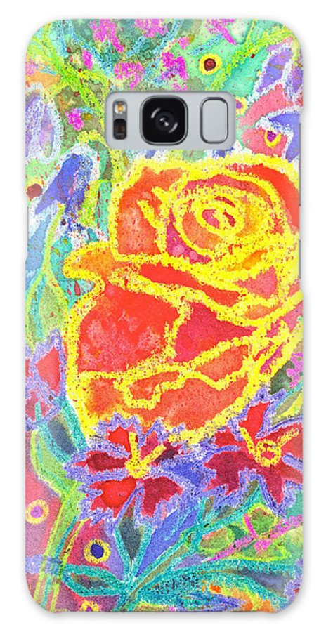 Rose Galaxy S8 Case featuring the painting Yellow Rose Bouquet by Kacy Cope
