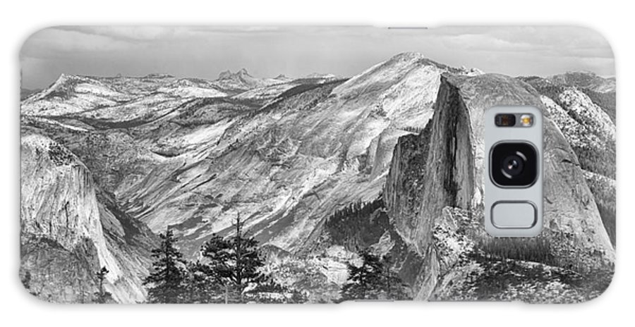 Yosemite Galaxy S8 Case featuring the photograph Yosemite Bw by Chuck Kuhn
