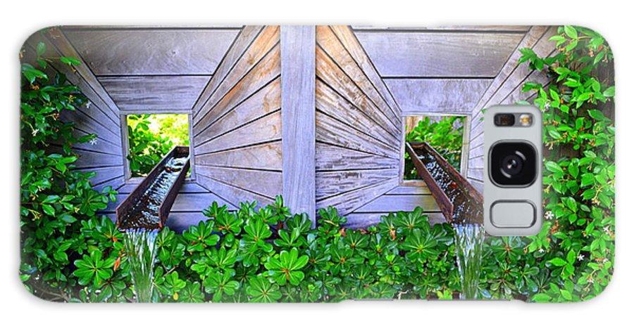 Fountain Galaxy S8 Case featuring the photograph Zen Garden Fountain by Amy Lucid