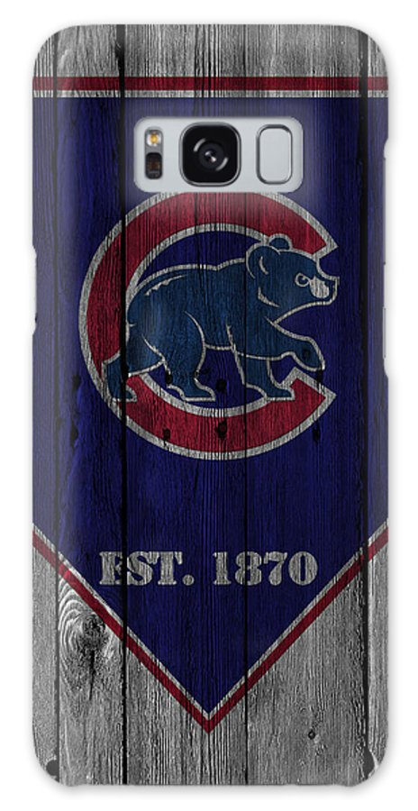 Cubs Galaxy Case featuring the photograph Chicago Cubs by Joe Hamilton