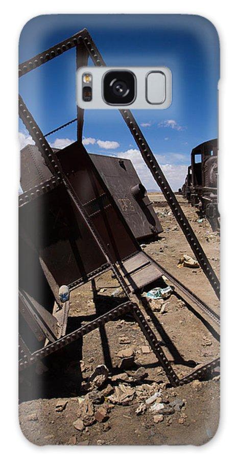 Salt Flats Galaxy S8 Case featuring the photograph Salt Flats Bolivia by Sara Bobeldyk