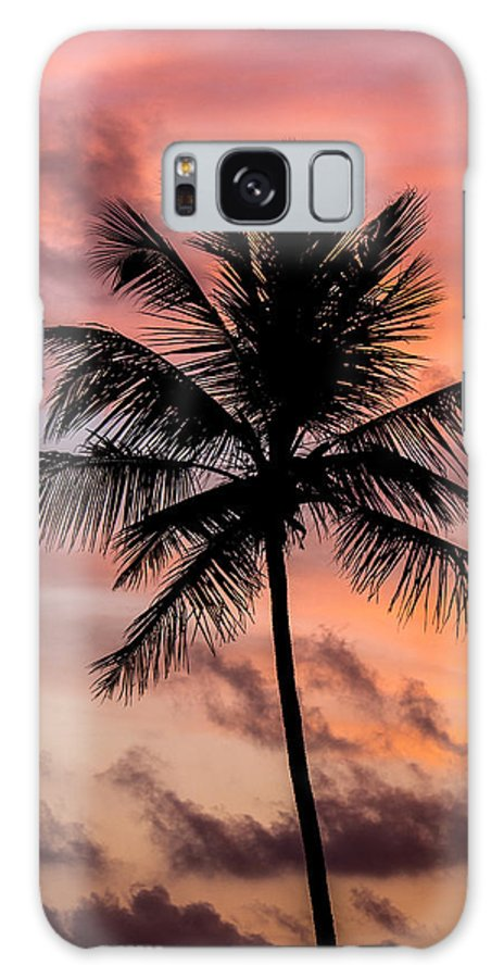 Sri Lanka Galaxy S8 Case featuring the photograph Sunset And Palm Tree by Guillaume Gauthereau