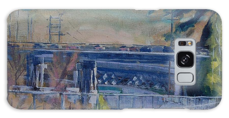 100 Freeway Galaxy S8 Case featuring the painting 110 Freeway South II by Richard Willson