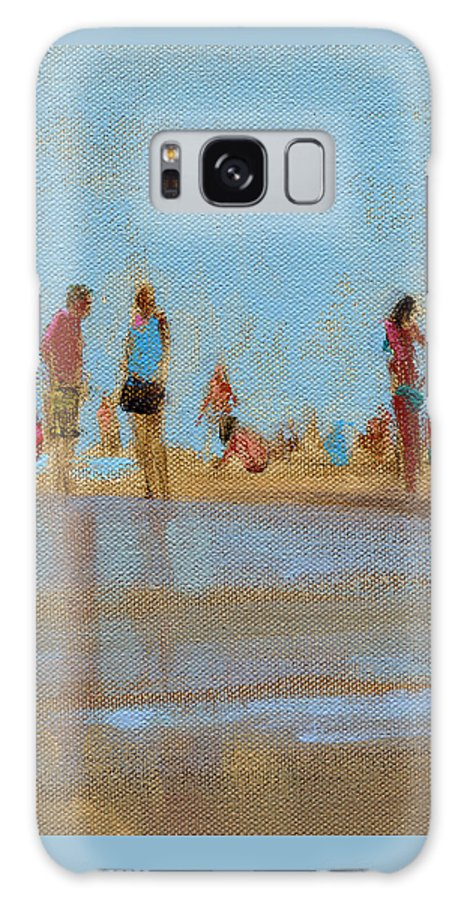 Beach Galaxy S8 Case featuring the painting Rcnpaintings.com by Chris N Rohrbach
