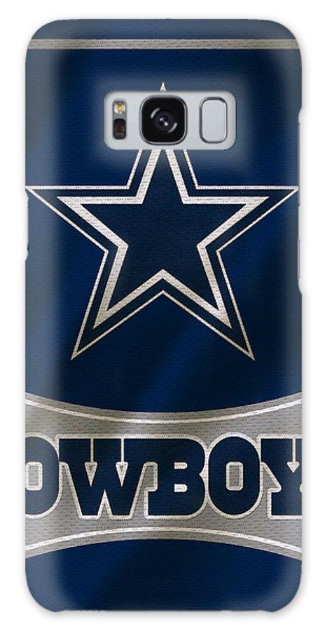 Cowboys Galaxy Case featuring the photograph Dallas Cowboys Uniform by Joe Hamilton