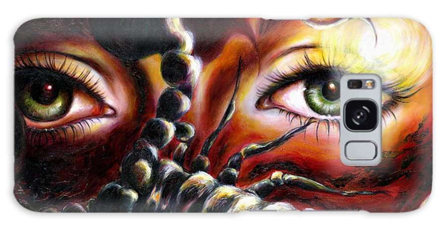 Horoscope Sign Galaxy Case featuring the painting 12 Signs Series Scorpio by Hiroko Sakai