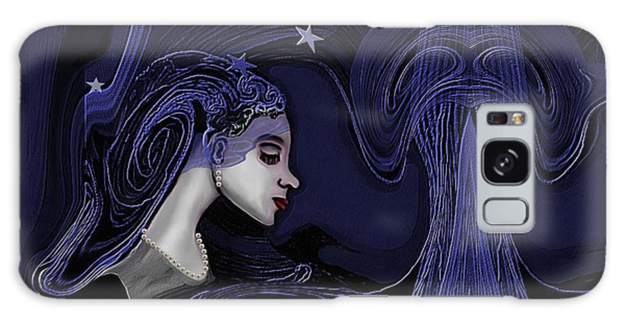 Woman Galaxy S8 Case featuring the painting 128 - Melancholia ... by Irmgard Schoendorf Welch