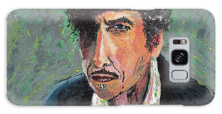 Portrait Galaxy S8 Case featuring the painting #13-16 Bob Dylan by Dane Tate