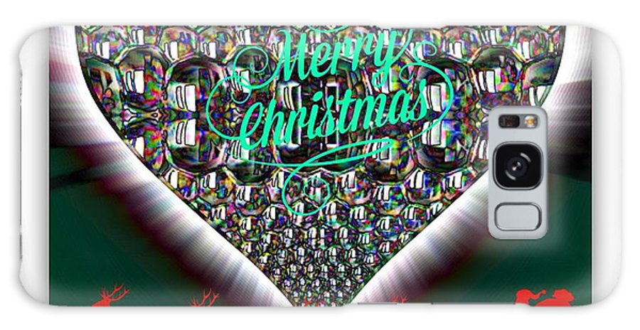 Merry Christmas Galaxy S8 Case featuring the digital art Merry Christmas by Meiers Daniel