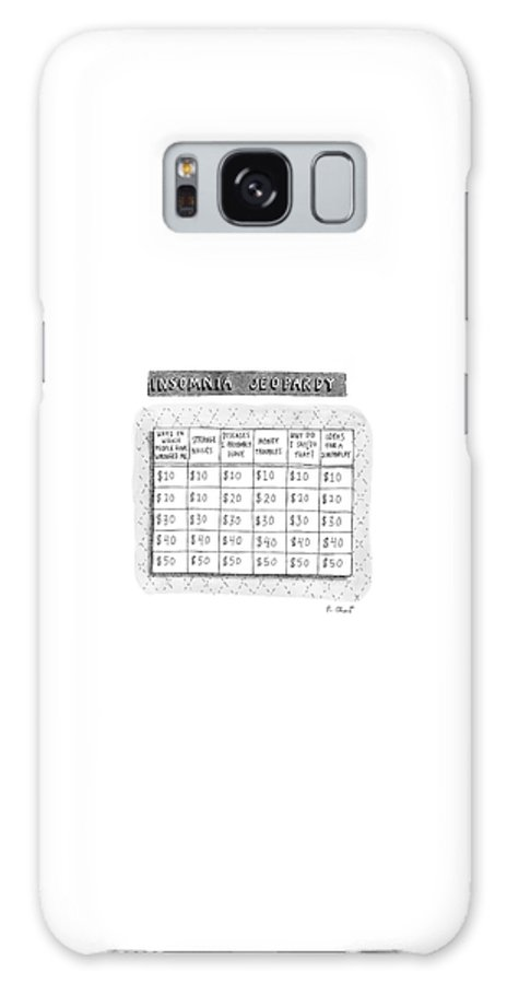 Insomnia Jeopardy Galaxy S8 Case featuring the drawing Insomnia Jeopardy by Roz Chast