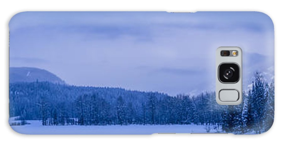 Cabinet Galaxy S8 Case featuring the photograph 140303a-43 The Bull River Valley In Winter by Albert Seger