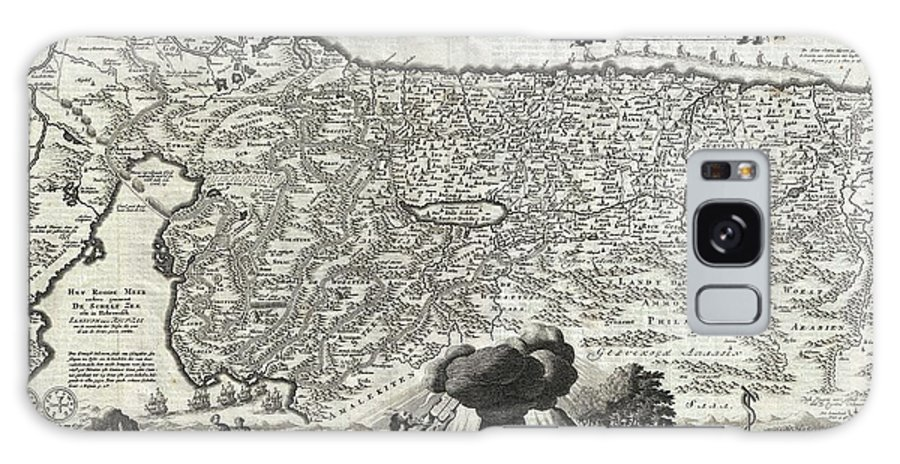 An Absolutely Stunning 1702 Map Of The Holy Land Galaxy S8 Case featuring the photograph 1702 Visscher Stoopendaal Map Of Israel by Paul Fearn