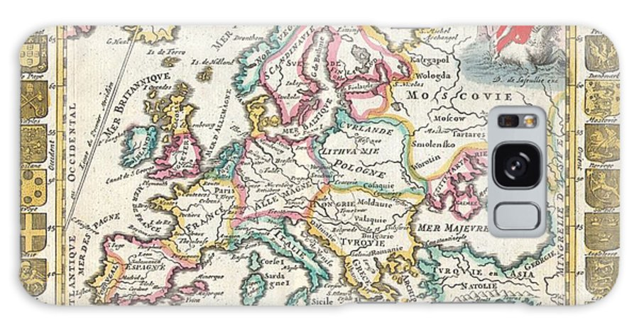 A Very Scarce Galaxy S8 Case featuring the photograph 1706 De La Feuille Map Of Europe by Paul Fearn
